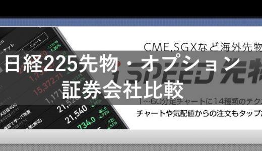 【2019年】日経225先物ミニ・オプションにおすすめの証券口座比較