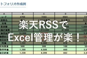 楽天RSSでExcel管理