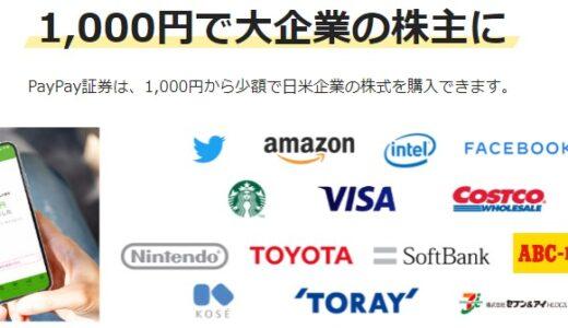 1,000円で株の練習!PayPay証券が初心者におすすめ